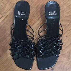 Stuart Weitzman loose net sandals / heels